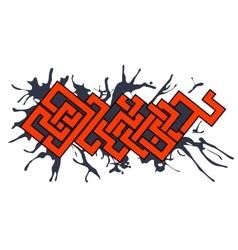 Graffiti art urban design element vector