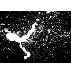 Graffiti paint splatter pattern in white on black vector