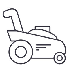 Grass cuttergardening machine line icon vector