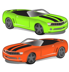 green and orange sport car without top vector image