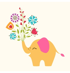 happy little elephant vector image