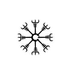 Helm awe norse magical stave vegvisir grunge vector