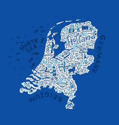 Holland map vector