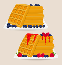 Icon logo for various sweet waffles vector