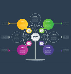 info graphic of technology or education process vector image