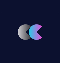 Initial alphabet letter cc c c logo company icon vector