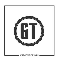 initial letter gt logo template design vector image