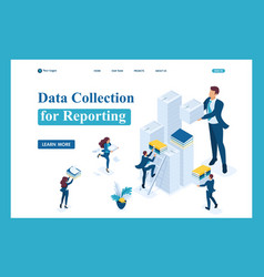 Isometric data collection for reporting audit vector