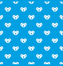 Koala pattern seamless blue vector