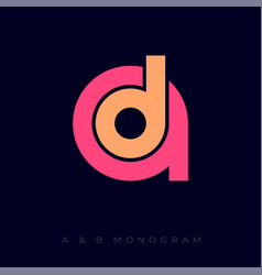 letter d into a monogram music business vector image