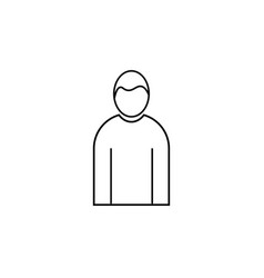 Male human linear icon vector