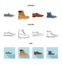 man and foot icon set of vector image