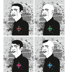 Man Haircut Face Set vector image