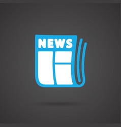 Media icon - newspapar vector