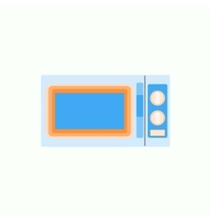 Microwave icon in flat style kitchenware vector