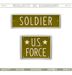 military signboard vector image