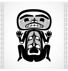 Modern stylization of canadian native art a man vector