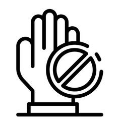 No corruption icon outline style vector