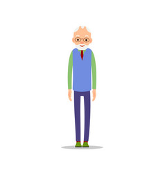 old man elderly man is stand and his arms are vector image
