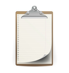 realistic clipboard a4 size top view vector image