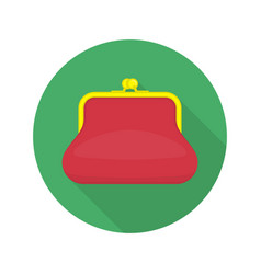 Red purse icon vector