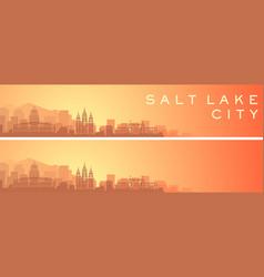 Salt lake city beautiful skyline scenery banner vector