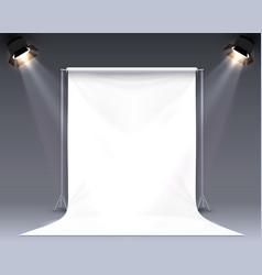 Scene palatno for photo shooting vector
