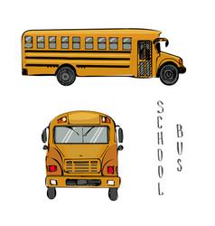school yellow bus sketch of vector image