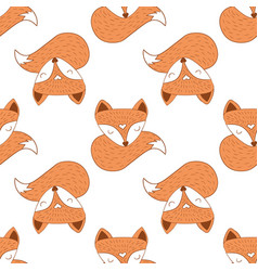 Seamless of scandinavian foxes vector