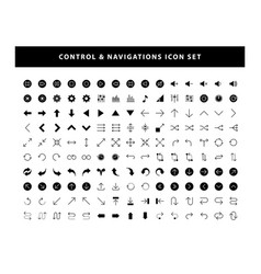 set control and navigations icon with glyph vector image