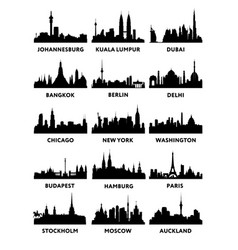 silhouette of the city skyline vector image