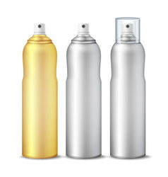 spray can clean 3d bottle can spray vector image