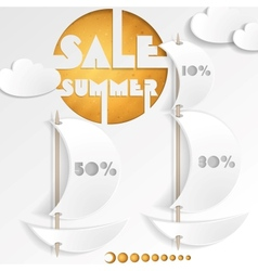 Summer Sale Business Background vector image
