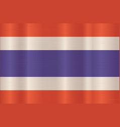 Thai flag in art design vector