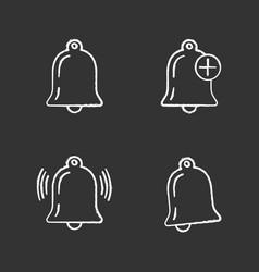 Uiux chalk icons set vector