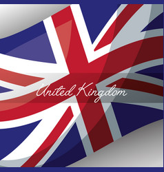 United kingdom places flag vector