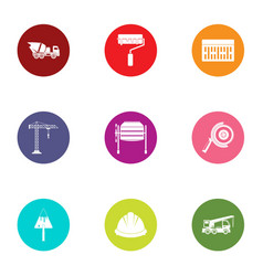 Waste matter icons set flat style vector