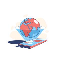 World in phone vector