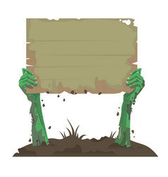 zombie hands with a board vector image