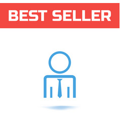businessman or user icon the symbol for your web vector image vector image