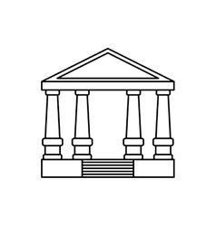 Court building symbol vector image vector image