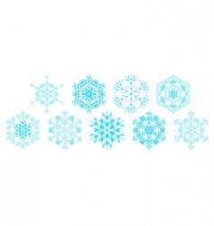 set of decorative snowflakes vector vector image