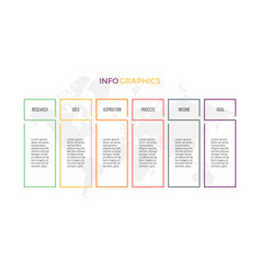business infographics presentation with 6 columns vector image vector image
