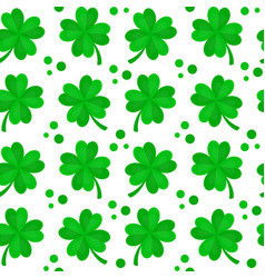 four-leaf clover for luck seamless vector image vector image