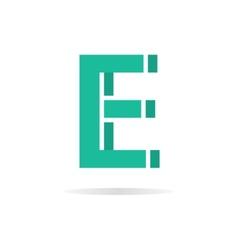 Logo E letter for company design template vector image