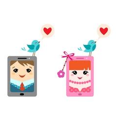 Love twitter vector image vector image