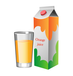 natural fresh orange juice in a glass vector image vector image