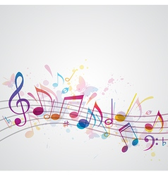 Note music abstract vector