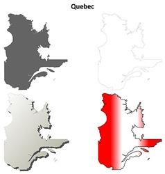 Quebec blank outline map set vector image vector image