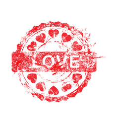 red color of grunge rubber stamp vector image vector image
